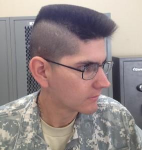 Military mens haircut
