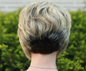 Back View of Stacked Bob Haircut