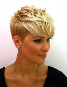 Short Blonde Haircut
