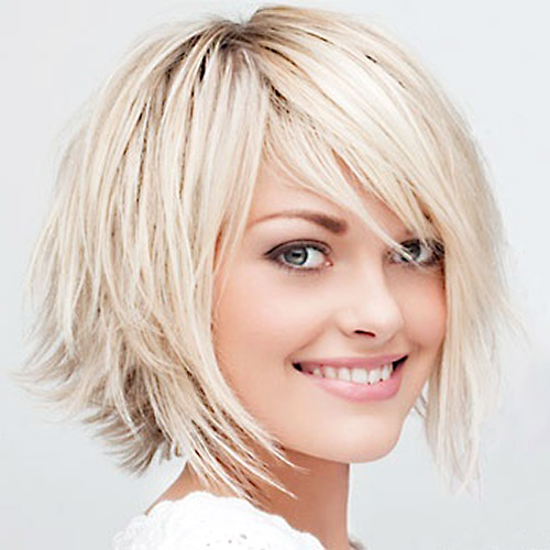 Stupendous Choppy Haircuts For Round Faces Impression Hair Style Short Hairstyles Gunalazisus