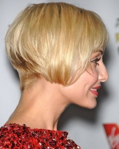 Stacked Bob Haircut With Bangs