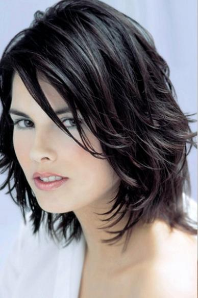 sassy hairstyles for medium length hair : Women Haircuts For Fine Hair Best Haircut For Thin Hair Dark Brown ...