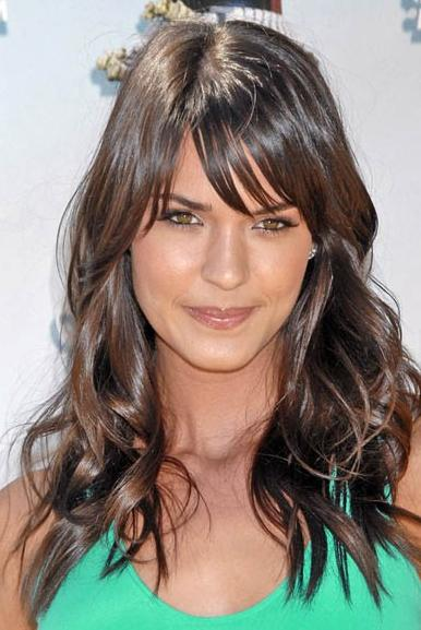 hairstyles with rods : ... Photos - Long Layered Hairstyles With Bangs Haircuts Bangsround Faces