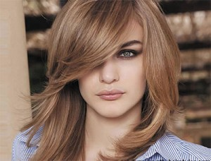 Medium Haircuts for Thick Hair and Round Faces