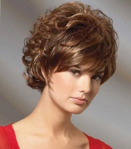 Short Curly Haircuts With Bangs