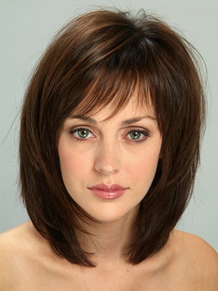 Shoulder Length Layered Haircuts With Bangs